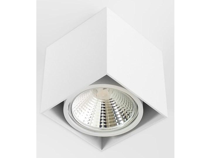Wewnętrzna oprawa natynkowa sufitowa kwadrat AR111 GU10 biała Kolor Biały Oprawa stropowa Kwadratowe Oprawa halogenowa Kategoria Oprawy oświetleniowe