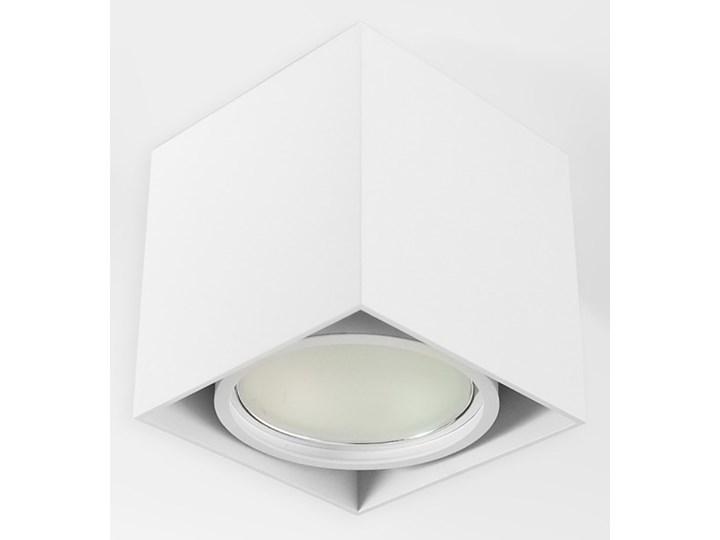 Wewnętrzna oprawa natynkowa sufitowa kwadrat AR111 GU10 biała Oprawa halogenowa Kwadratowe Kolor Biały Oprawa stropowa Kategoria Oprawy oświetleniowe