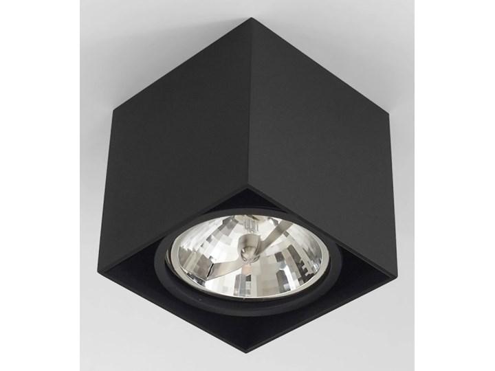 Wewnętrzna oprawa natynkowa sufitowa kwadrat AR111 GU10 czarna Oprawa stropowa Oprawa halogenowa Kwadratowe Kolor Czarny Kategoria Oprawy oświetleniowe