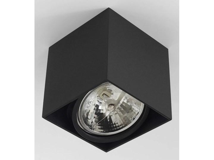 Wewnętrzna oprawa natynkowa sufitowa kwadrat AR111 GU10 czarna Oprawa stropowa Kwadratowe Oprawa halogenowa Kolor Czarny