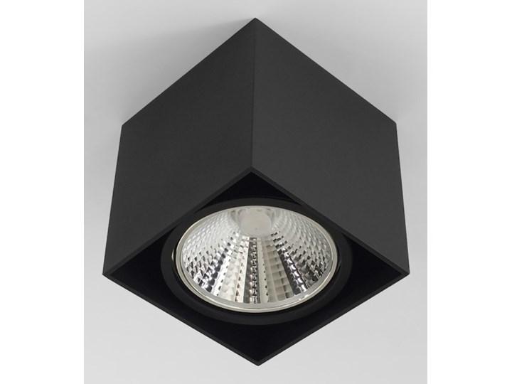 Wewnętrzna oprawa natynkowa sufitowa kwadrat AR111 GU10 czarna Oprawa stropowa Oprawa halogenowa Kwadratowe Kolor Czarny