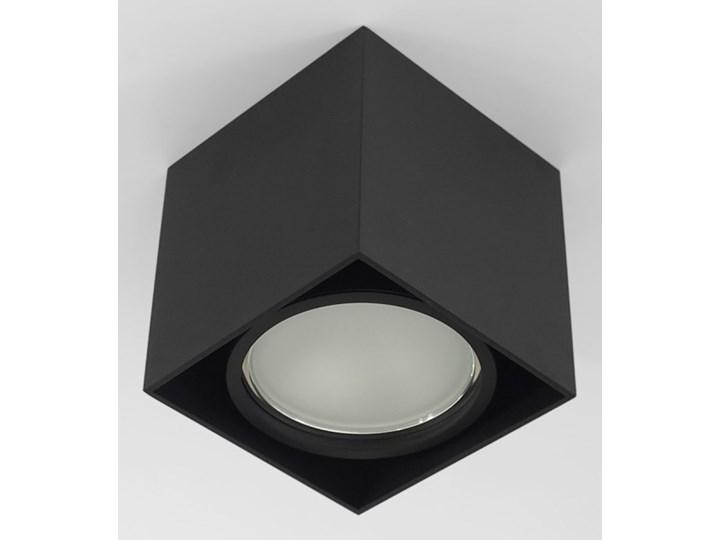 Wewnętrzna oprawa natynkowa sufitowa kwadrat AR111 GU10 czarna Oprawa halogenowa Kwadratowe Oprawa stropowa Kolor Czarny Kategoria Oprawy oświetleniowe