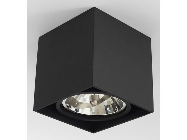 Wewnętrzna oprawa natynkowa sufitowa kwadrat AR111 GU10 czarna Oprawa halogenowa Kwadratowe Oprawa stropowa Kolor Czarny