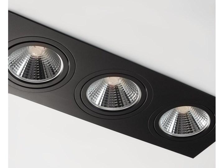 Potrójna ruchoma sufitowa podtynkowa oprawa ES111 AR111 QR111 czarna Prostokątne Oprawa halogenowa Oprawa ruchoma Kolor Czarny Oprawa stropowa Kategoria Oprawy oświetleniowe