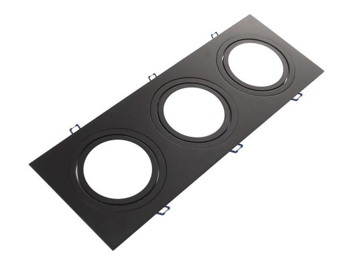 Potrójna ruchoma sufitowa podtynkowa oprawa ES111 AR111 QR111 czarna Prostokątne Oprawa halogenowa Oprawa ruchoma Oprawa stropowa Kolor Czarny