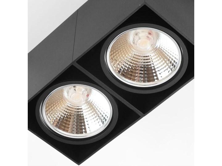 Oprawa sufitowa natynkowa ruchoma podwójna czarna ES QR AR111 prostokąt Oprawa ruchoma Oprawa halogenowa Prostokątne Oprawa stropowa Kolor Czarny Kategoria Oprawy oświetleniowe