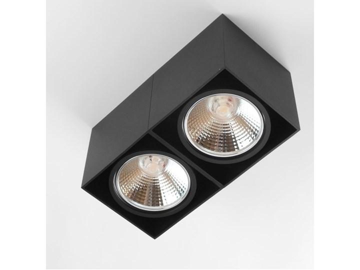 Oprawa sufitowa natynkowa ruchoma podwójna czarna ES QR AR111 prostokąt Oprawa stropowa Prostokątne Oprawa ruchoma Oprawa halogenowa Kolor Czarny