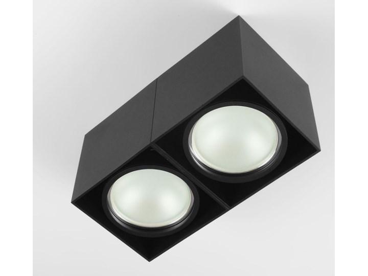 Oprawa sufitowa natynkowa ruchoma podwójna czarna ES QR AR111 prostokąt Prostokątne Oprawa ruchoma Oprawa stropowa Oprawa halogenowa Kolor Czarny