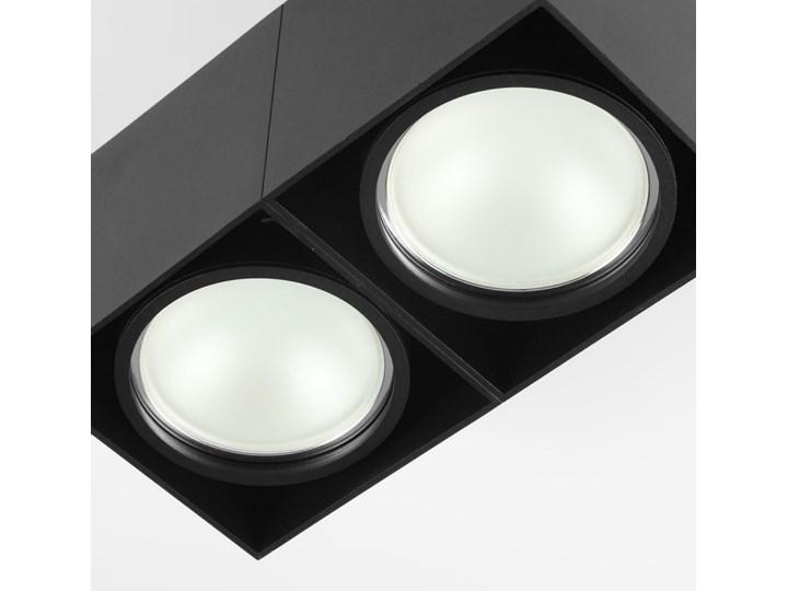 Oprawa sufitowa natynkowa ruchoma podwójna czarna ES QR AR111 prostokąt Oprawa halogenowa Oprawa stropowa Oprawa ruchoma Prostokątne Kolor Czarny