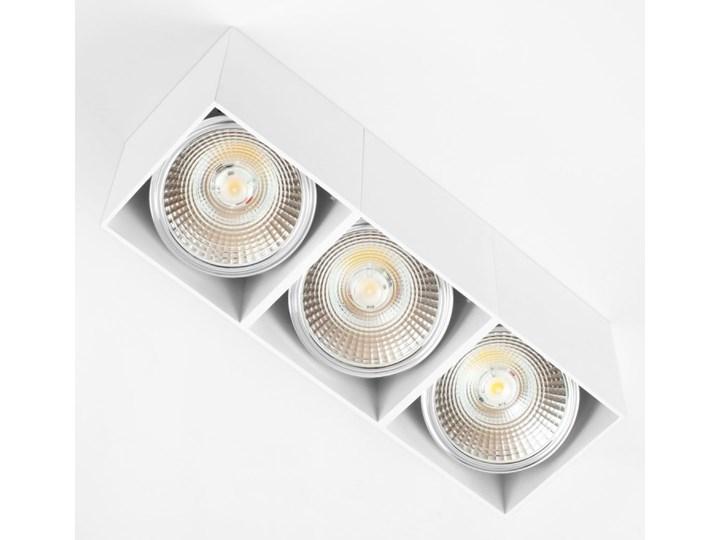 Potrójna ruchoma sufitowa oprawa natynkowa w kolorze białym AR ES111 Oprawa stropowa Oprawa halogenowa Prostokątne Oprawa ruchoma Kategoria Oprawy oświetleniowe