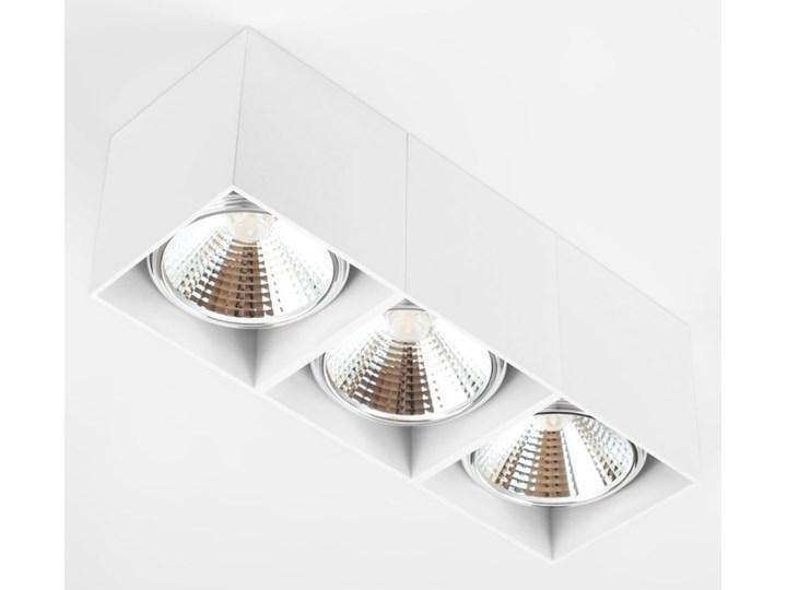 Potrójna ruchoma sufitowa oprawa natynkowa w kolorze białym AR ES111 Oprawa halogenowa Prostokątne Oprawa ruchoma Oprawa stropowa Kategoria Oprawy oświetleniowe