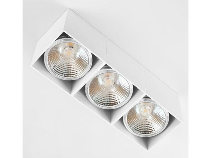 Potrójna ruchoma sufitowa oprawa natynkowa w kolorze białym AR ES111 Oprawa ruchoma Prostokątne Oprawa halogenowa Oprawa stropowa Kategoria Oprawy oświetleniowe