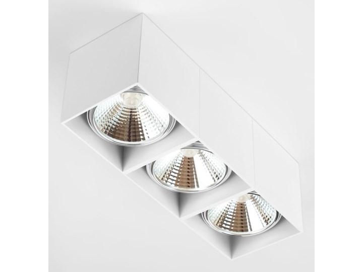 Potrójna ruchoma sufitowa oprawa natynkowa w kolorze białym AR ES111 Oprawa stropowa Prostokątne Oprawa halogenowa Oprawa ruchoma Kategoria Oprawy oświetleniowe