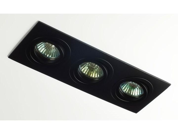 Potrójna sufitowa ruchoma podtynkowa oprawa 3x MR16 GU10 czarna Kolor Czarny Oprawa stropowa Oprawa ruchoma Prostokątne Oprawa halogenowa Kategoria Oprawy oświetleniowe