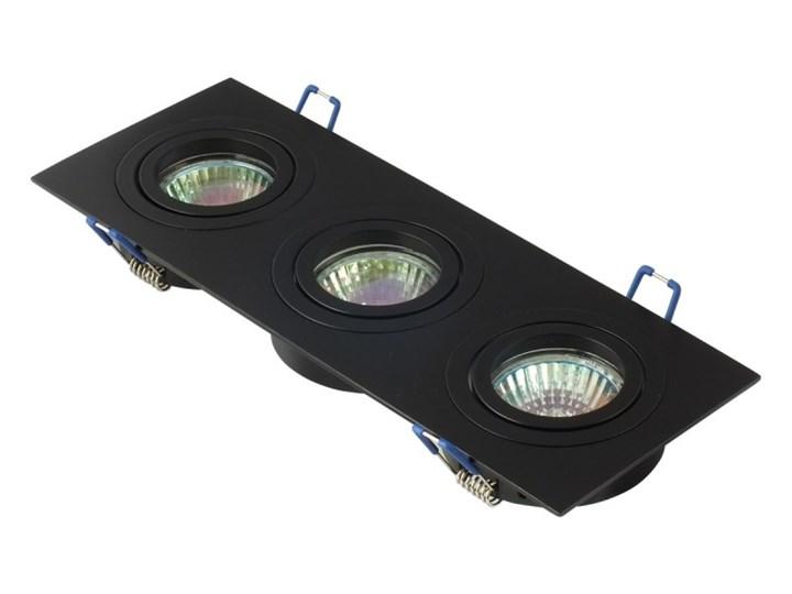 Potrójna sufitowa ruchoma podtynkowa oprawa 3x MR16 GU10 czarna Oprawa halogenowa Oprawa ruchoma Prostokątne Kolor Czarny Oprawa stropowa Kategoria Oprawy oświetleniowe