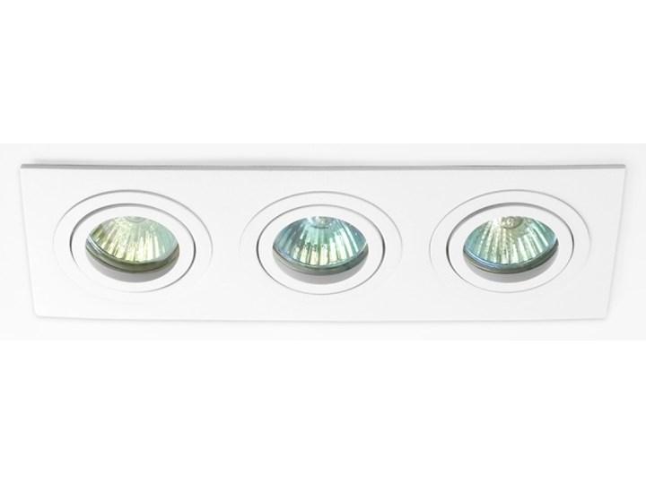 Potrójna sufitowa ruchoma podtynkowa oprawa 3x MR16 GU10 biała Oprawa ruchoma Oprawa stropowa Prostokątne Oprawa halogenowa Kolor Biały Kategoria Oprawy oświetleniowe