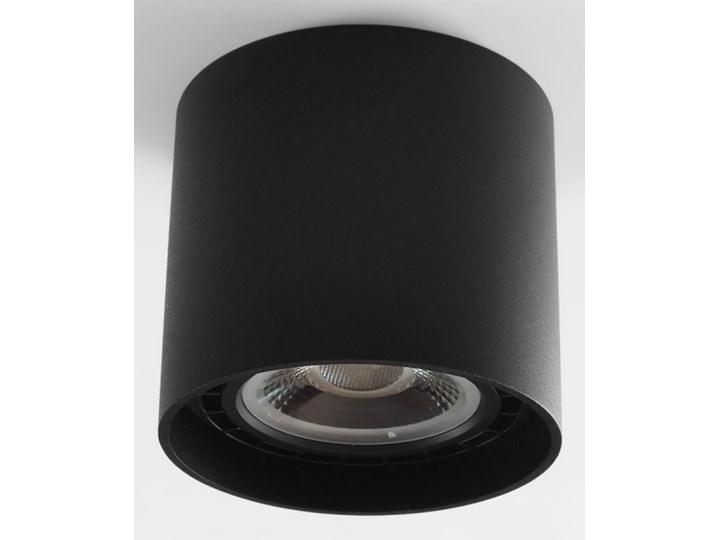 Oprawa natynkowa okrągła GU10 ES AR111 stała czarna aluminiowa do domu Okrągłe Oprawa halogenowa Kolor Czarny Oprawa stropowa Kategoria Oprawy oświetleniowe