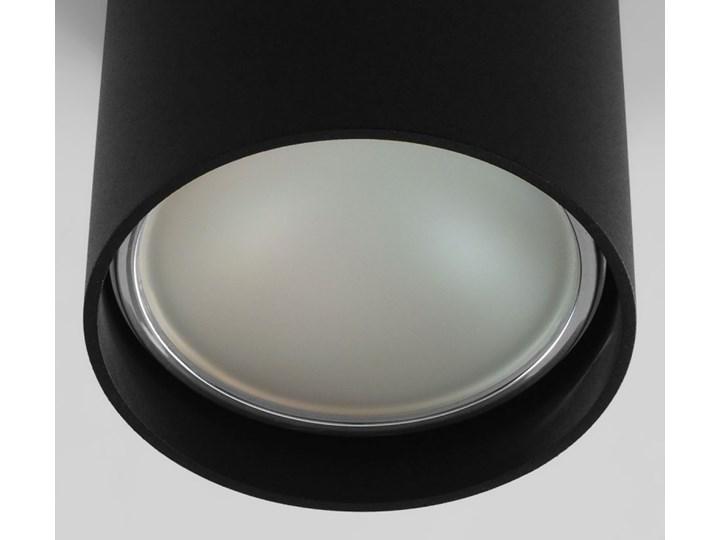 Oprawa natynkowa okrągła GU10 ES AR111 stała czarna aluminiowa do domu Oprawa halogenowa Oprawa stropowa Kolor Czarny Okrągłe Kategoria Oprawy oświetleniowe