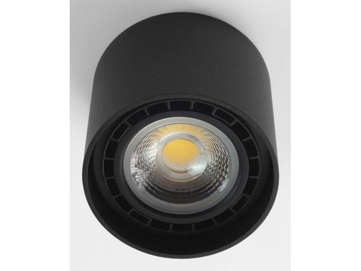 Oprawa natynkowa okrągła GU10 ES AR111 stała czarna aluminiowa do domu Kolor Czarny Oprawa stropowa Okrągłe Oprawa halogenowa Kategoria Oprawy oświetleniowe