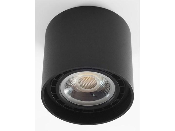 Oprawa natynkowa okrągła GU10 ES AR111 stała czarna aluminiowa do domu Kolor Czarny Oprawa stropowa Oprawa halogenowa Okrągłe Kategoria Oprawy oświetleniowe