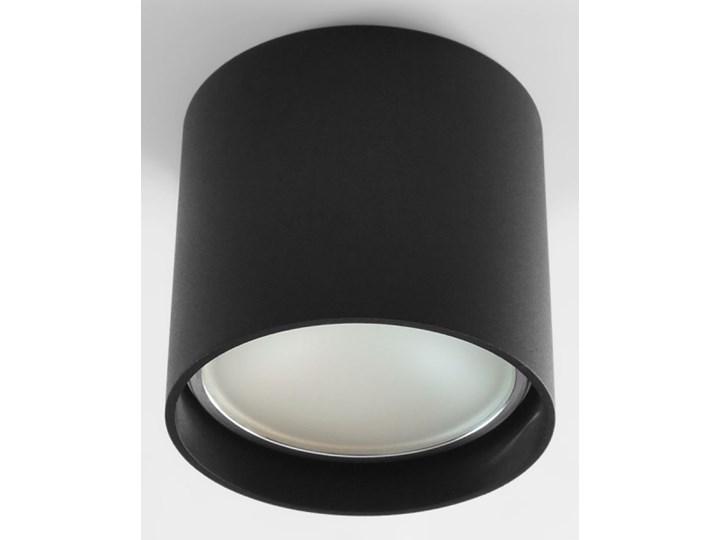 Oprawa natynkowa okrągła GU10 ES AR111 stała czarna aluminiowa do domu Kolor Czarny Okrągłe Oprawa halogenowa Oprawa stropowa Kategoria Oprawy oświetleniowe