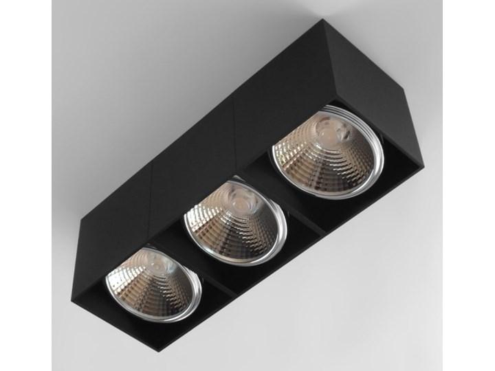 Potrójna ruchoma sufitowa oprawa natynkowa w kolorze czarnym AR ES111 Oprawa ruchoma Oprawa stropowa Prostokątne Oprawa halogenowa Kategoria Oprawy oświetleniowe