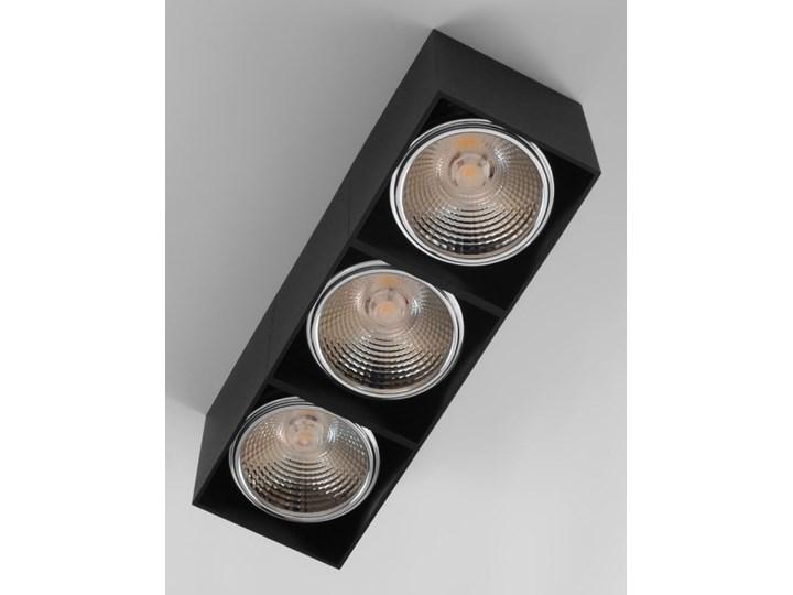 Potrójna ruchoma sufitowa oprawa natynkowa w kolorze czarnym AR ES111 Oprawa stropowa Prostokątne Oprawa ruchoma Oprawa halogenowa Kategoria Oprawy oświetleniowe