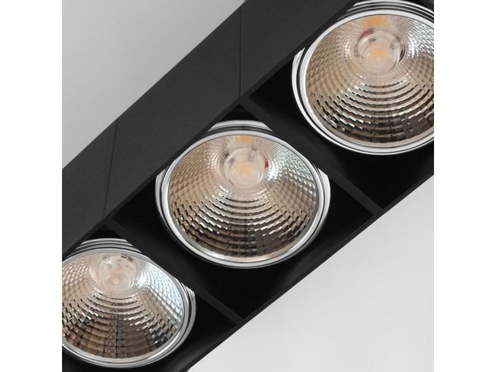 Potrójna ruchoma sufitowa oprawa natynkowa w kolorze czarnym AR ES111 Oprawa ruchoma Oprawa halogenowa Oprawa stropowa Prostokątne Kategoria Oprawy oświetleniowe