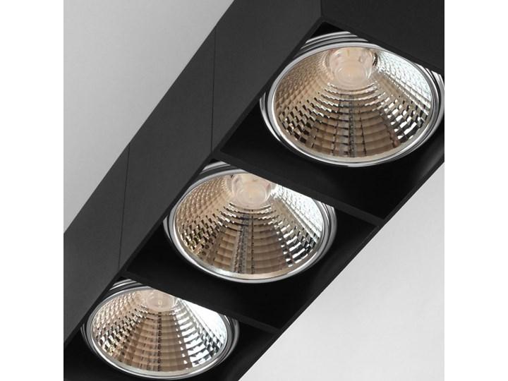 Potrójna ruchoma sufitowa oprawa natynkowa w kolorze czarnym AR ES111 Oprawa stropowa Oprawa halogenowa Oprawa ruchoma Prostokątne Kategoria Oprawy oświetleniowe
