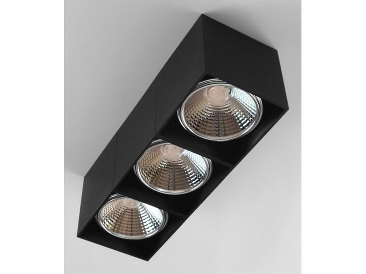 Potrójna ruchoma sufitowa oprawa natynkowa w kolorze czarnym AR ES111 Oprawa halogenowa Prostokątne Oprawa stropowa Oprawa ruchoma Kategoria Oprawy oświetleniowe