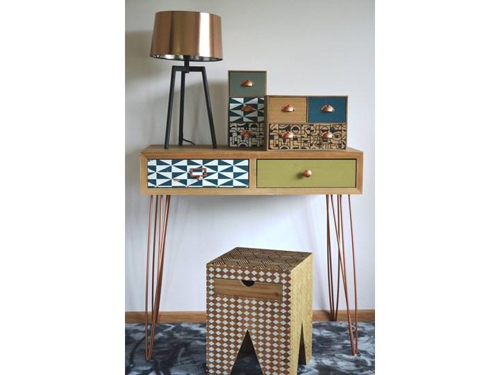 Portofino 043B Stolik vintage Wysokość 37 cm Drewno Metal Kolor Wielokolorowy