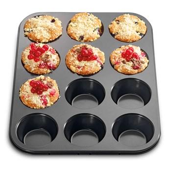 Forma na muffinki 34,5x26,5 cm Kuchenprofi czarna kod: KU-0810041012