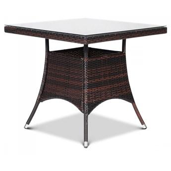 Stół z technorattanu Lugo 80x80 : Kolor - Mixed Brown kod: BK-003990
