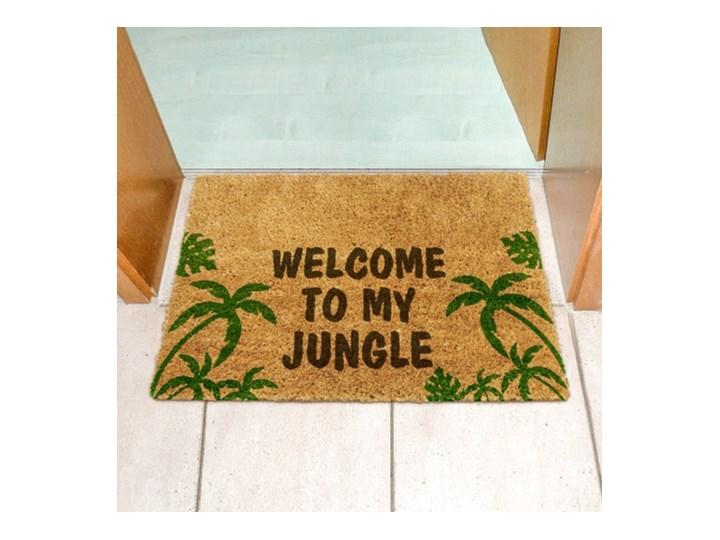 Wycieraczka z napisem Welcome to MY Jungle Włókno kokosowe Kolor Zielony