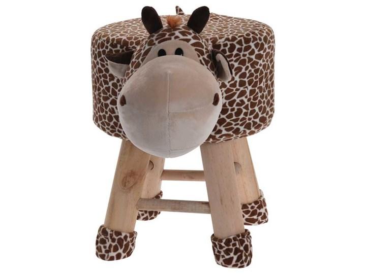 Pufa dla dzieci w kształcie żyrafy, na drewnianych nogach, Home Styling