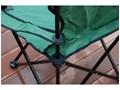 Składane krzesło wędkarskie HUGO - zielony Krzesło składane