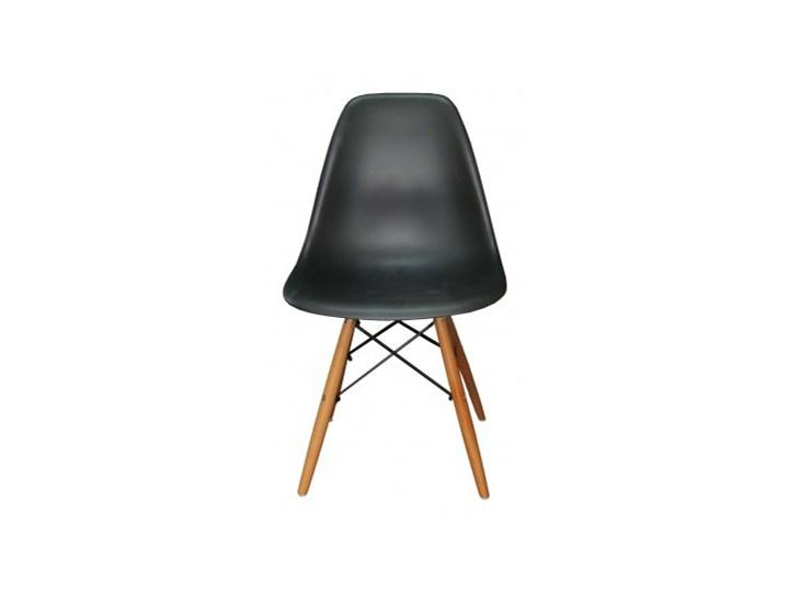 Krzesło skandynawskie Iris DSW czarne Metal Głębokość 40 cm Tworzywo sztuczne Drewno Metal Metal Wysokość 41 cm Wysokość 83 cm Drewno Szerokość 46 cm Drewno Tworzywo sztuczne Tworzywo sztuczne