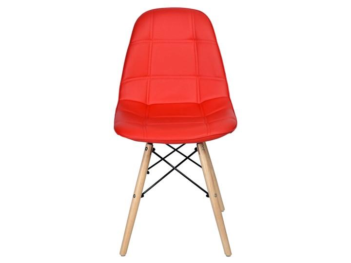 Krzesło nowoczesne Shirley czerwone Metal Głębokość 40 cm Tkanina Tkanina Drewno Metal Drewno Drewno Szerokość 45 cm Metal Wysokość 85 cm Tkanina