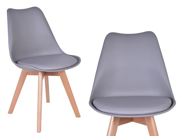 KRZESŁO WESTA SZARE Krzesła kuchenne Homebook