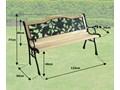 Ławka żeliwna ogrodowa RÓŻA Drewno Drewno Drewno