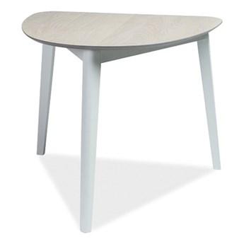 SELSEY Stół Nylar 90x80 cm dąb bielony z białą podstawą