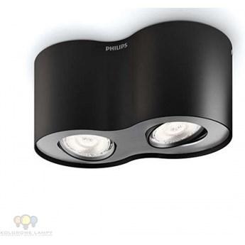 PHASE 53302/30/16 LAMPA PHILIPS LED NATYNKOWA CZARNA LEDY