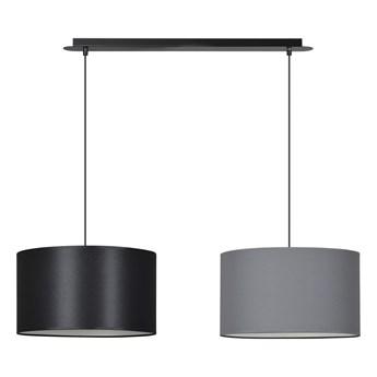 PORTO 2 BL BLACK / GRAY lampa wisząca duże abażury regulowana wysokość kolory