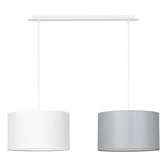 PORTO 2 WH WHITE / GRAY lampa wisząca duże abażury regulowana wysokość kolory