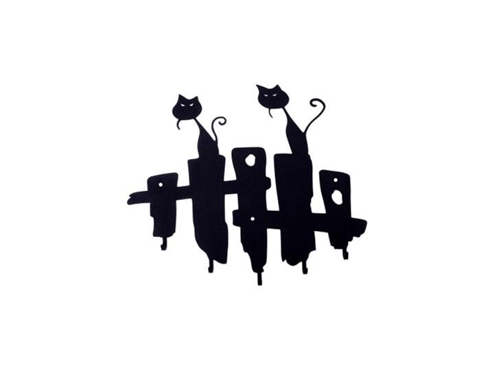 Wieszak ścienny Koty czarny