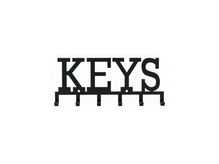 Wieszak ścienny Keys czarny