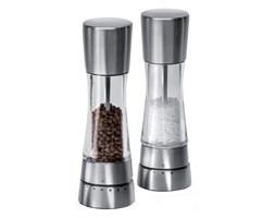 Zestaw młynków krokowych do soli i pieprzu 19cm ColeMason Derwent srebrny kod: WL H59408G
