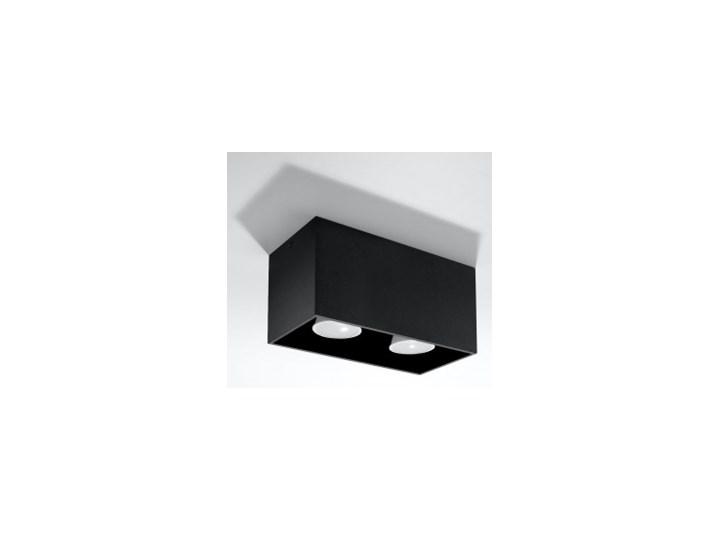 SOLLUX Nowoczesna Lampa Sufitowa Plafon QUAD MAXI Czarny Prostokątne Oświetlenie Oprawa led Oprawa stropowa Oprawa halogenowa Kategoria Oprawy oświetleniowe