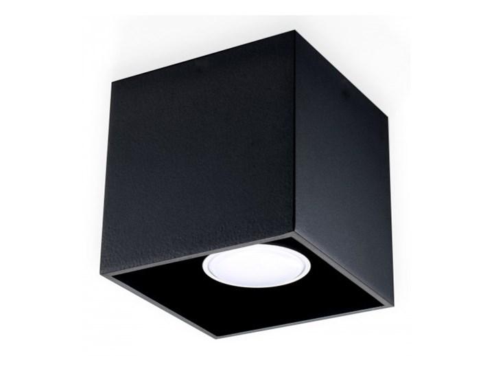 Sollux Lampa Plafon QUAD 1 czarny SL.0022 Oprawa Sufitowa Idealna do Salonu Korytarza Lampa Minimalistyczne Oświetlenie Gu10 LED Oprawa led Oprawa stropowa Oprawa halogenowa Kwadratowe Kategoria Oprawy oświetleniowe