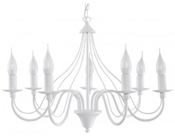 Sollux Lampa Żyrandol MINERWA 7 biały SL.0215